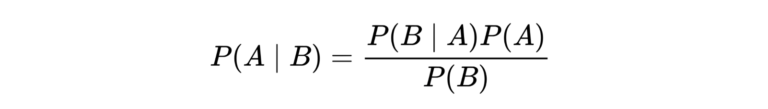 P(A|B) = P(B|A)P(A)/P(B)